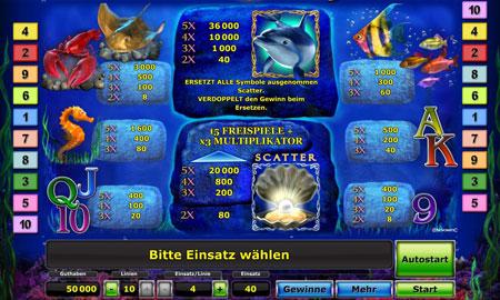 Dolphins Pearl Gewinntabelle