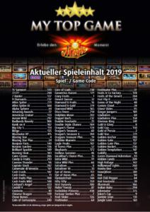Merkur My Top Game Liste 2019 Codes 1
